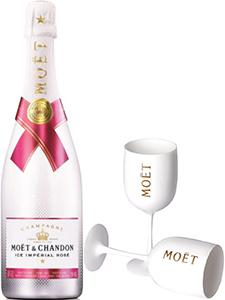 Moet & Chandon Ice Rose Imperial incl. Glazen